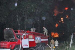 Пожежники загасили займання в лісі поблизу нафтобази