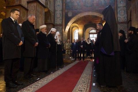 Главы церквей провели молебен за защитников Украины в Софийском соборе