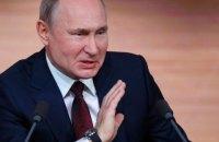 Путін про Зеленського: намагаюся не давати характеристики колегам