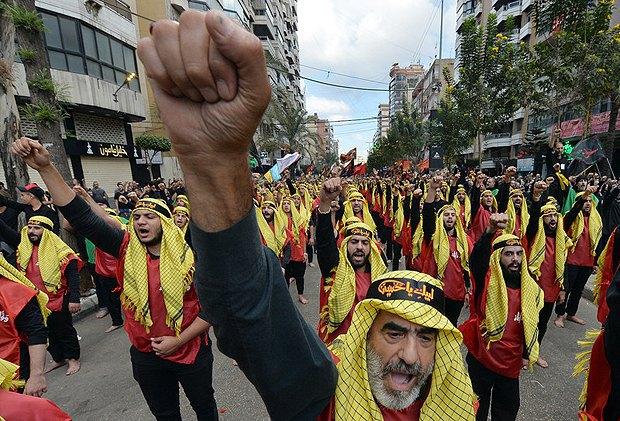 Митинг в поддержку движения Хезболла, Ливан, 01 октября 2017.