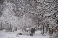 Мариуполь заметает снегом