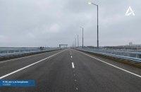 Открыт первый проезд Запорожского моста через Днепр, который начали строить 16 лет назад