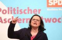 Лидер немецких социал-демократов объявила об отставке со всех постов