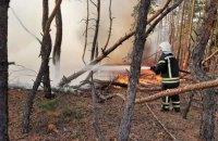 Рятувальники погасили вісім із десяти осередків пожеж на Луганщині