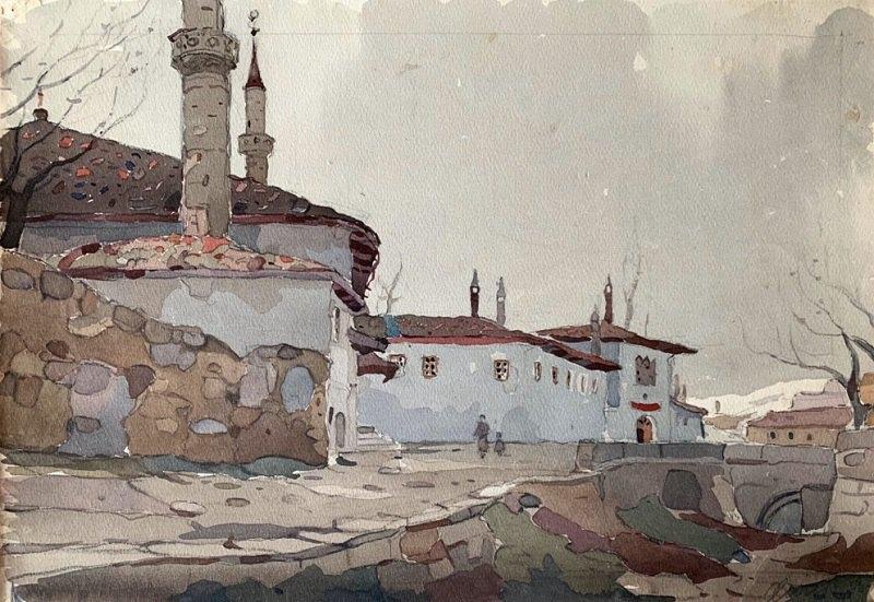 Юрий Химич. Бахчисарай (1953), акварель