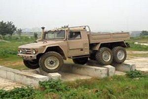 Китайский военный грузовик демонстрирует чудеса проходимости на видео