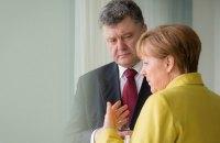 Порошенко обсудил с Меркель итоги ее встречи с Путиным