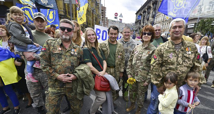 Учасники 'маршу нескорених' в Києві, 24 серпня 2017