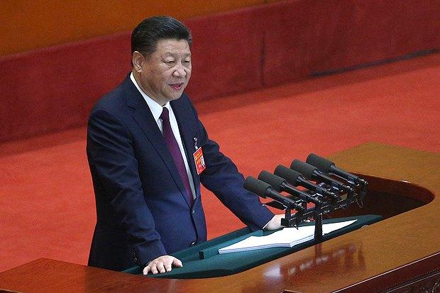 Президент Китая Си Цзиньпин во время съезда Коммунистической партии Китая