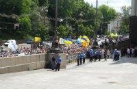 Чорнобильці перекрили вулицю Грушевського