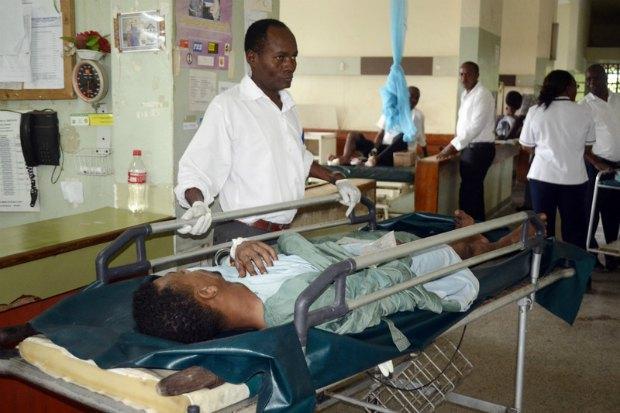 Пострадавший в теракте в кенийском госпитале