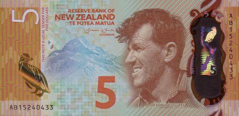 5 новозеландских долларов