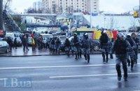 ГАИ перекрыло движение автомобилей на ул. Крещатик в связи с началом митинга