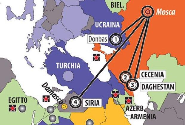 """Карта, опубликованная в итальянском издании """"Лимес"""""""