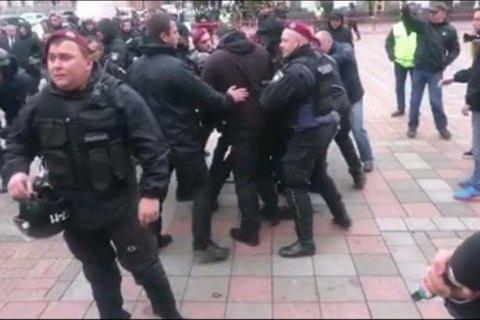 """Полиция вывела из-под Рады главу киевской ячейки """"Нацкорпуса"""" Филимонова"""