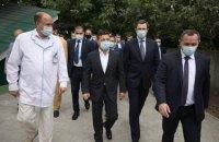 Зеленський відвідав оновлену лікарню в Борисполі