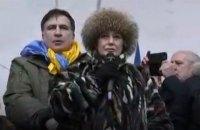 На митинге Саакашвили выступила евродепутат, выступавшая против ассоциации Украина-ЕС