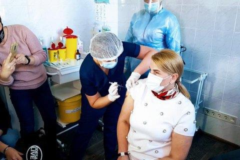 В Одессе вакцинировали руководство областного департамента здравоохранения