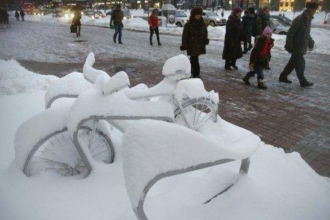 В воскресенье в Киеве ночью небольшой снег, до -6 градусов