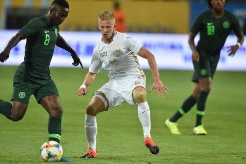 Украина сыграла вничью в товарищеском матче со сборной Нигерии (обновлено)