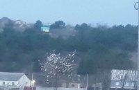 В оккупированном Симферополе над Ак-Мечетью вывесили флаг Украины