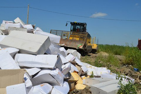 У Росії почали знищувати санкційні продукти