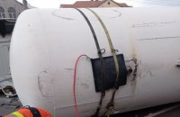 В Житомире перевернулась автоцистерна с газом, эвакуировали людей