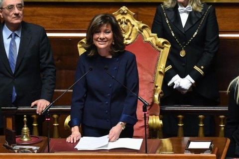 Главой Сената Италии впервый раз вистории стала женщина