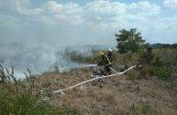 На мусорной свалке под Трипольем произошел крупный пожар