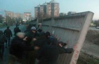 Під час сутичок на київській будові постраждав міліціонер