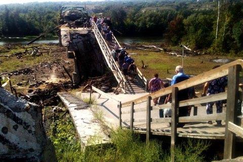 СЦКК заявляет о саботаже начала ремонта моста в Станице Луганской со стороны оккупантов