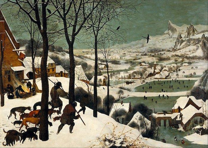 "Питер Брейгель Старший, ""Охотники на снегу"", 1565"