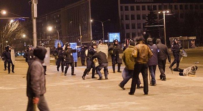 Розгін учасників Запорізького Євромайдану 26 січня 2014 р.