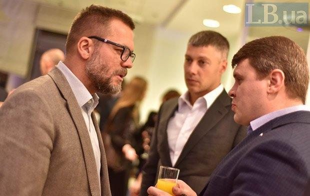 Слева направо: Андрей Вадатурский, Артем Ильюк и Вадим Ивченко