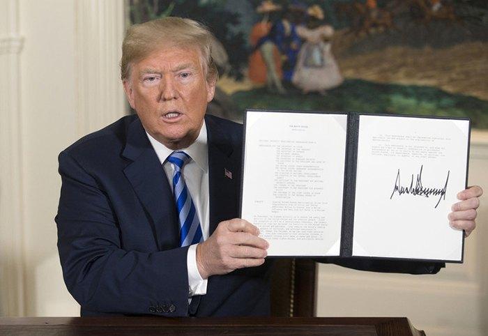 Трамп ввёл санкции против Ирана