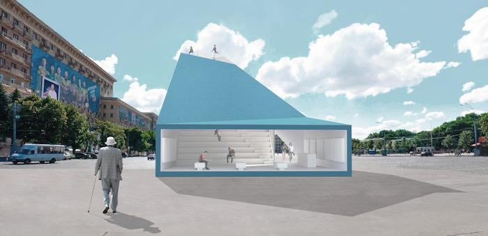 Проект міні-павільйону на площі Свободи