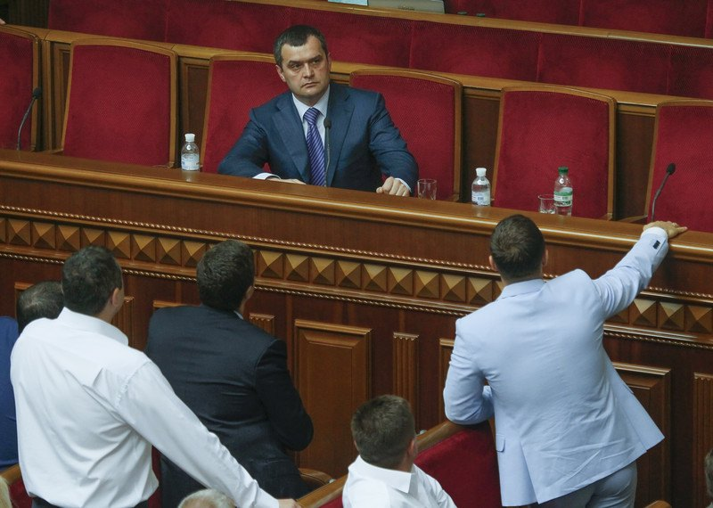 Міністр внутрішніх справ Віталій Захарченко під час виступу в парламенті, 21 травень 2013 року