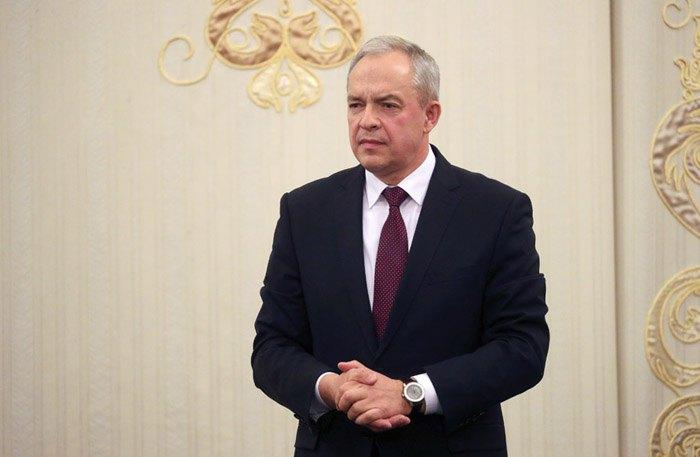 Новый руководитель администрации Президента Беларуси Игорь Сергеенко во время представления,5 декабря 2019