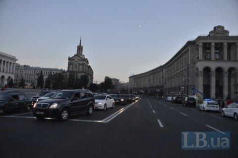 Рух у центрі Києва обмежили у зв'язку з репетицією параду до Дня Незалежності