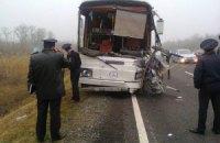 Три украинца погибли в ДТП с участием микроавтобуса и автобуса в России