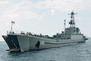 """На """"Константине Ольшанском"""", заблокированном в Донузлаве, остались 20 моряков"""