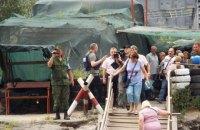В Станице Луганской готовят площадку для техники, которая будет восстанавливать мост