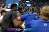 В матче NCAA произошла яркая драка студенческих команд