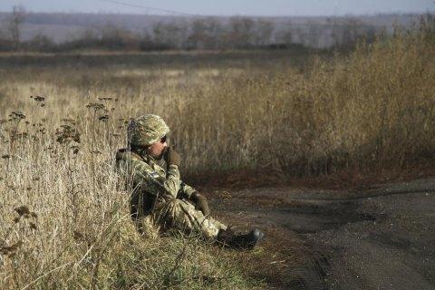 За сутки на Донбассе один военный получил пулевое ранение