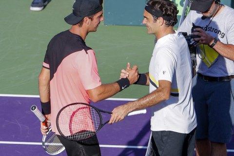 Федерер провалился вМайами иотдал Надалю первую строчку