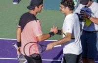Швейцарец Федерер проиграл на турнире в Майами 175-ой ракетке мира