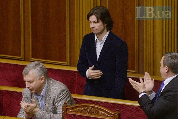 Сергей Квит(слева) и Евгений Нищук(в центре)