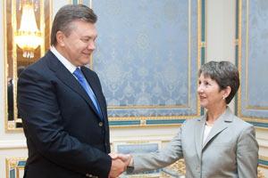 Янукович встретился со спикером парламента Австрии