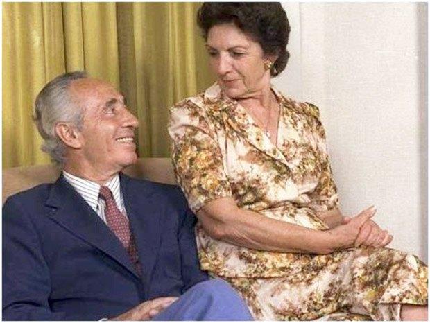 Шимон Перес c супругой Соней Гельман