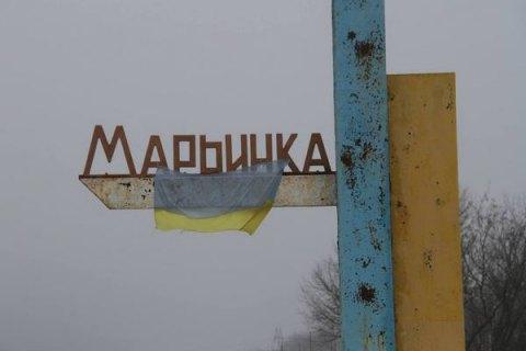 В итоге обстрела Марьинки ранен мирный гражданин